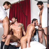 Bareback Business Party with Max Toro, Raul Korso, Craig Daniel, And Zander Craze